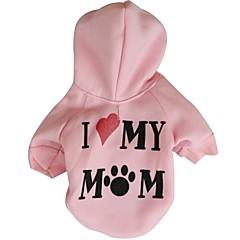 love my mom Stil Vliese Hoodies für Hunde (sortierte Farbe sortiert Größen)