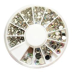 500 Neglekunst Dekoration Rhinsten Perler Makeup Kosmetik Neglekunst Design