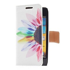 Sun Flower Style Leather Case with Card Slot and Stand for Samsung Galaxy S Advance i9070