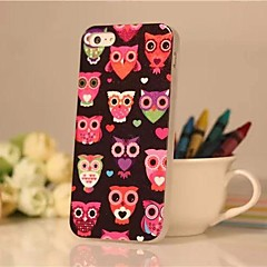 Colorful Owls Pattern TPU Back Case for iPhone 5/5S