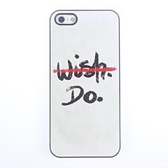 Não desejo Mas Do Projeto Alumínio Hard Case para iPhone 5/5S