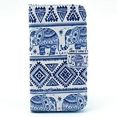 Custodia in pelle dell'elefante Tribal Carpet modello PU con slot per schede detentore di moneta per Samsung Galaxy S3 I9300