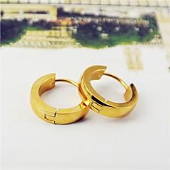 Ring oorbellen Titanium Staal Verguld Zwart Zilver Roos Gouden Sieraden Voor Dagelijks Causaal