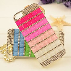 Rainbow Color med Jewel for iPhone5/5S (assorteret farve)
