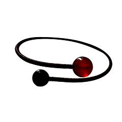 Classic Couple Fresh 22cm Women's Red Agate Cuff Bracelet(1 Pc)