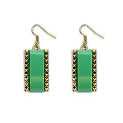 Women's European and America Ethnic Squares Hooked Drop Earrings (More Colors) (1 Pair)
