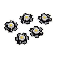 1W High Power Natural White Color LED-modul med aluminium PCB (3.0-3.4V, 5st)