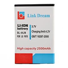 LG P970 MS840 L5 2500mAh를 (BL-44JN)에 대한 링크 드림 고품질 3.7V 2500 MAH 휴대 전화 배터리