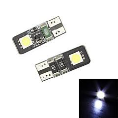 Merdia Festoon 24lm 0.5W T10 2x5050SMD LED de luz blanca para el coche Lámpara de lectura / Instrumento Light / Light-Licencia (12 V / 2 PCS)