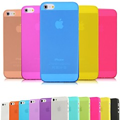 DSB ® Premium Matte Superfície PP Ultra Fina 0,01 Soft Case inch/0.3 mm para iPhone 5/5S (cores sortidas)