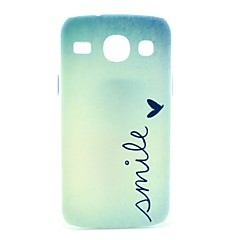 Smile Signature Butterfly Pattern Hard Case for Samsung Galaxy Core I8262