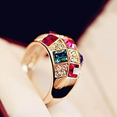 Super Sparkle Austria Colorful Crystal Female Money Costly Nobility Classic Ring