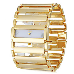 Women's Square Case Wide Steel Band Analog Quartz Bracelet Watch (Assorted Colors) Cool Watches Unique Watches Strap Watch