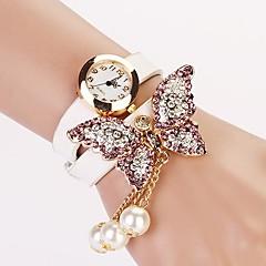 Женские Модные часы Часы-браслет Имитация Алмазный Кварцевый PU Группа Бабочка Богемные Жемчуг Черный Белый Красный Желтый