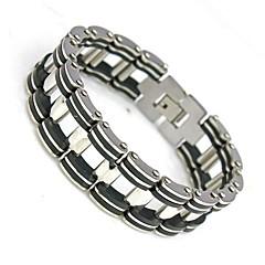 Fashion jewelry Chain Link Statement Bracelets 210mm 304 Stainless Steel Punk Men's Bracelet