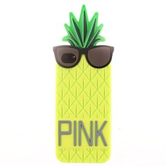 Pineapple Wearing Glasses Silicone Soft Case for iPhone 4/4S (Assorted Colors)