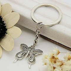 Vintage Silver Butterfly Shape Beautiful Keychains(1 Pc)