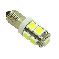 E10 2W 9X5050 SMD 6000K Valkoinen valot LED lamppu DIY (DC 12V, 2-Pack)