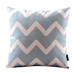 Κομψή κυματιστές Βαμβάκι / Λευκά Είδη Διακοσμητικά Pillow Cover