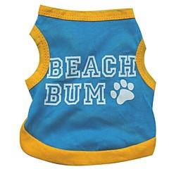 Verano - Azul Algodón - Camiseta - Perros - XS / M