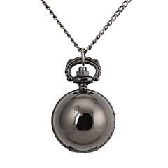 Retro Smooth Round Ball Metallic Necklace Watch (1 stk)