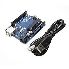 Funduino bricolaje r3 uno del microcontrolador del tablero del desarrollo de (para arduino) (con el cable usb)