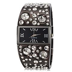 Kvinnors Luxury Diamond Decor Steel Band kvarts armband klocka (blandade färger)