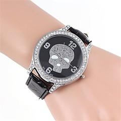 Dames Vrijetijdshorloge Gesimuleerd Diamant Horloge Kwarts imitatie Diamond Band Zwart Wit Bruin Wit Zwart Bronzen