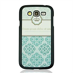 Blue Crown Leather Vein Pattern  Hard  Case for Samsung Galaxy Grand Duos i9082