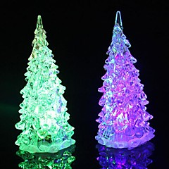 Crystal Christmas Tree Light Colorful LED  Night Light Tree Small Lamp