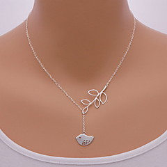 Shixin® Fashion Bird Leaf Shape Pendant Necklace(1 Pc)