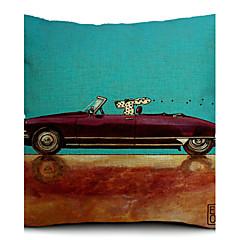 الكلب الكرتون ودراجة القطن / الكتان غطاء وسادة الزخرفية