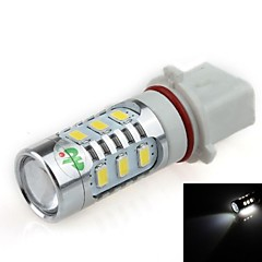 P13W 16W 12x 5630 SMD +2 x CREE XP-E LED 1500lm 6500K White Light LED Forcar Tågelygte / forlygte (DC12 ~ 24V)