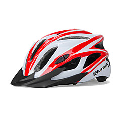KUTOOK 18 Vents EPS+PC White Red Integrally-molded Cycling Helmet(54-62cm)