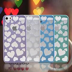 뜨거운 판매는 아이폰 5/5S를위한 하트 무늬 디자인의 PC 하드 케이스 (분류 된 색깔) 사랑 밖으로 속을 비게한다