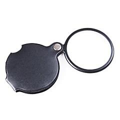 zw-85034 pocket 6x beläggning optisk lins förstoringsglas med vridbar pu läder