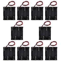 hotsale CM01 professionel uden hætte diy 8 x AAA batteri dobbeltdækker back to back holder tilfælde kasse med ledninger linje (10 stk)