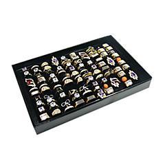Κουτάκια Κοσμημάτων Ακρυλικό / Βαμβακοφανέλλα / Χαρτί Geometric Shape Μαύρο / Λευκό