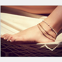 Anklet/Bracelet Pearl Imitation Pearl Alloy Unique Design Fashion Jewelry Gold Women's Jewelry Party Daily Casual Christmas Gifts 1pc