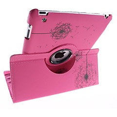 Dandelion Pattern 360 Degree Rotating PU Leather Full Body Case with Stand for iPad 2/3/4 (Assorted Colors)