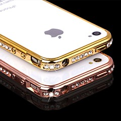 Luxury Bling Rhinestone Perfume Metal Frame Bumper Case for iPhone4/4S (Assorted Colors)