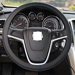 XuJi ™ Universal Ultra-thin Black Genuine Cowhide Leather Steering Wheel Cover