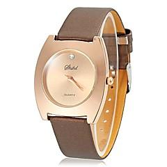 Mujeres Sencillo dial del cuadrado del cuarzo de la venda de la PU reloj de pulsera (colores surtidos)