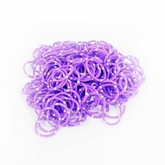 paarse weefgetouw bands willekeurige kleur rubberen band (200pcs bands, 12st s haak, 1pcs haaknaald)
