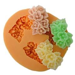 Three Hole Flower Shaped Bake Fondant Cake mold,L6cm*W5.3m*H1.5cm