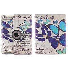 Many Butterfly Pattern 360 Degree Rotating PU Leather Case with Stand for iPad 2/3/4