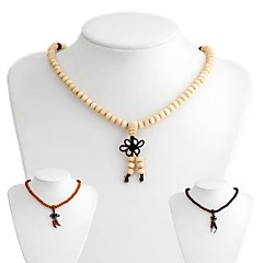 Consecration Wooden Buddha Beads Necklace(1 Pc)