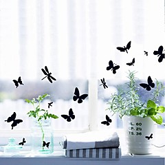 Cute Butterfly Design Removable Setting Plastic Wall Stickers (1pcs)