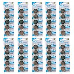 piles bouton CR2450 3v bouillie cellule de lithium (50 pcs)