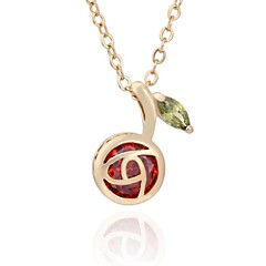 New  Fashion 18K Gold Plated Shining Red Color Pendant  D0605